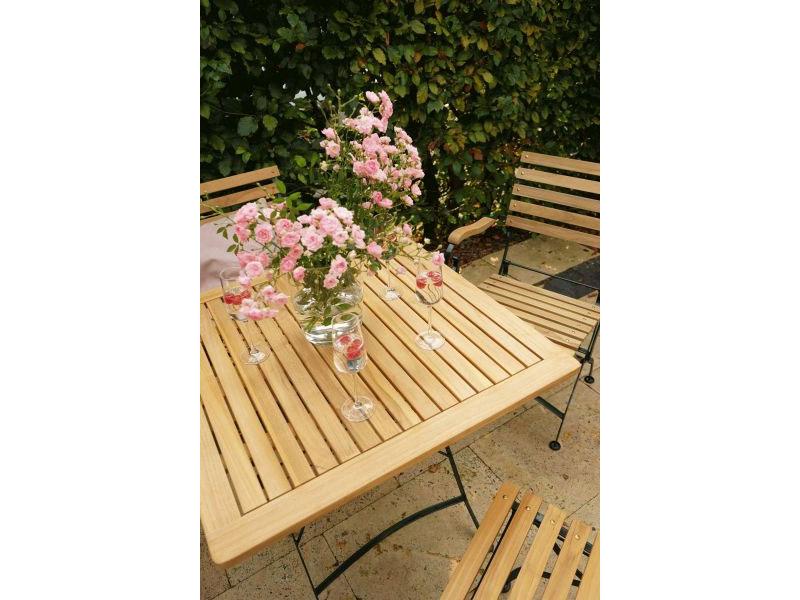 Ploss Gartenmobel Klapptisch Gartentisch Verona Aus Teakholz Und