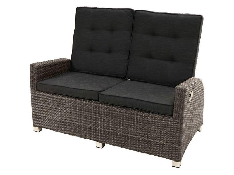 Ploss Gartenmöbel Loungesofa Rocking Polyrattan Sofa Mit
