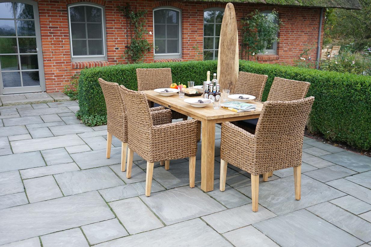 Ploss Gartenmöbel Set Lotus Und Picton 1x Gartentisch Teak Und 6