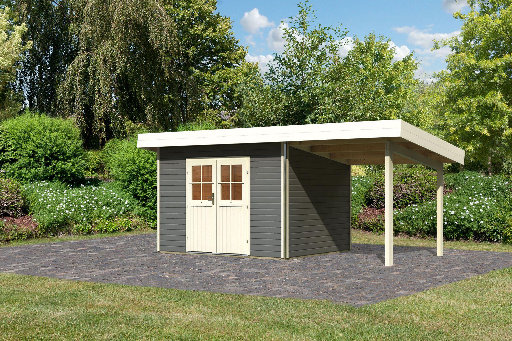 Karibu Holz Gartenhaus Moosburg 2 Turversion Classic Im Set 2 3 M