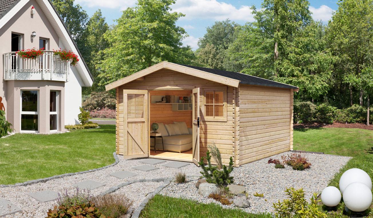 Karibu Holz Gartenhaus Muhlheim 6 Farbe Naturbelassen