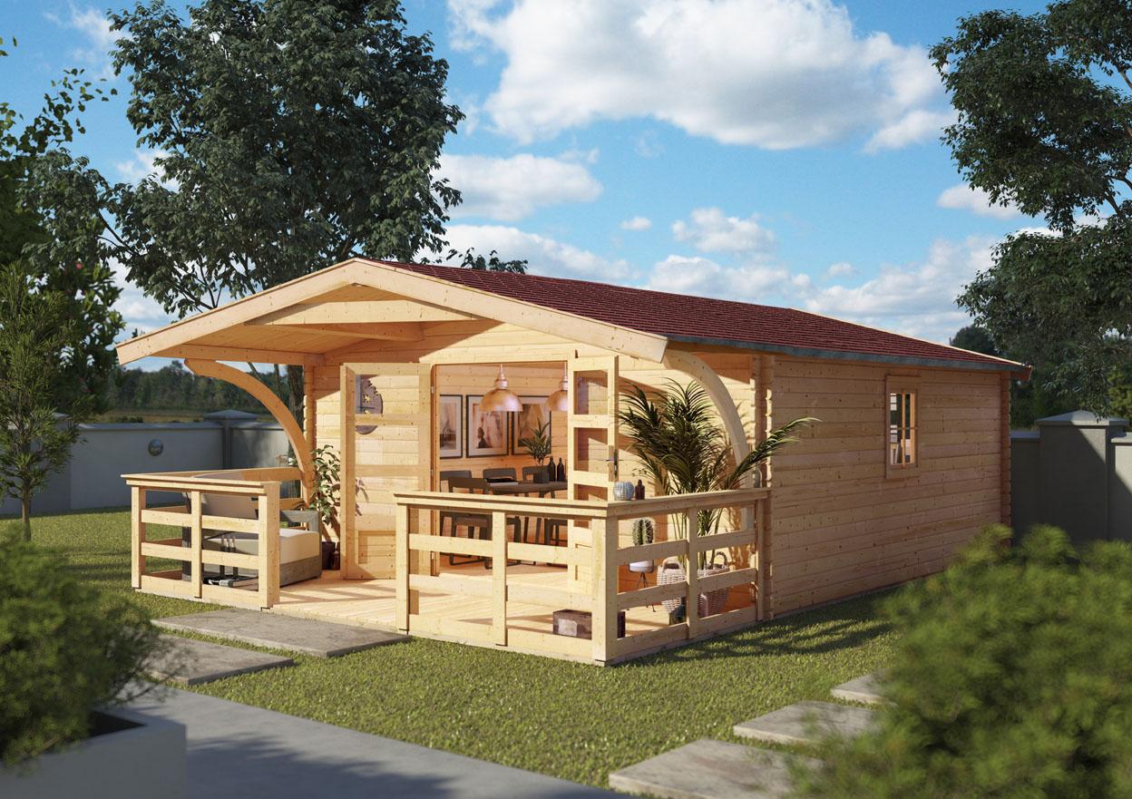 Woodfeeling Holz Gartenhaus Meldorf 6 Inkl Vordach Und Terrasse