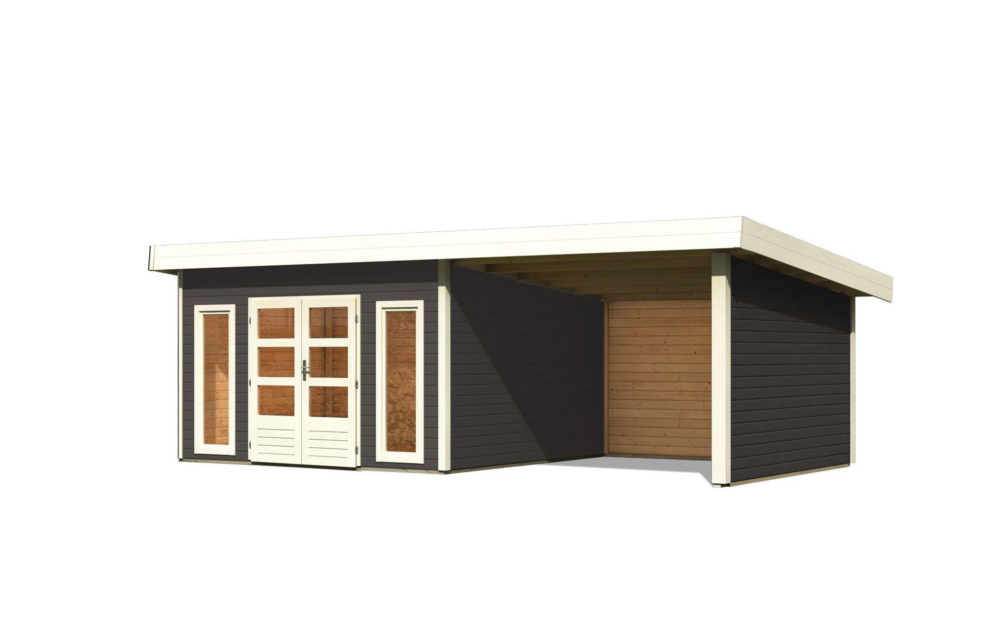 Gartenhaus Salzach 5 Farbe: terragrau mit Schleppdach 3 m Breite ...