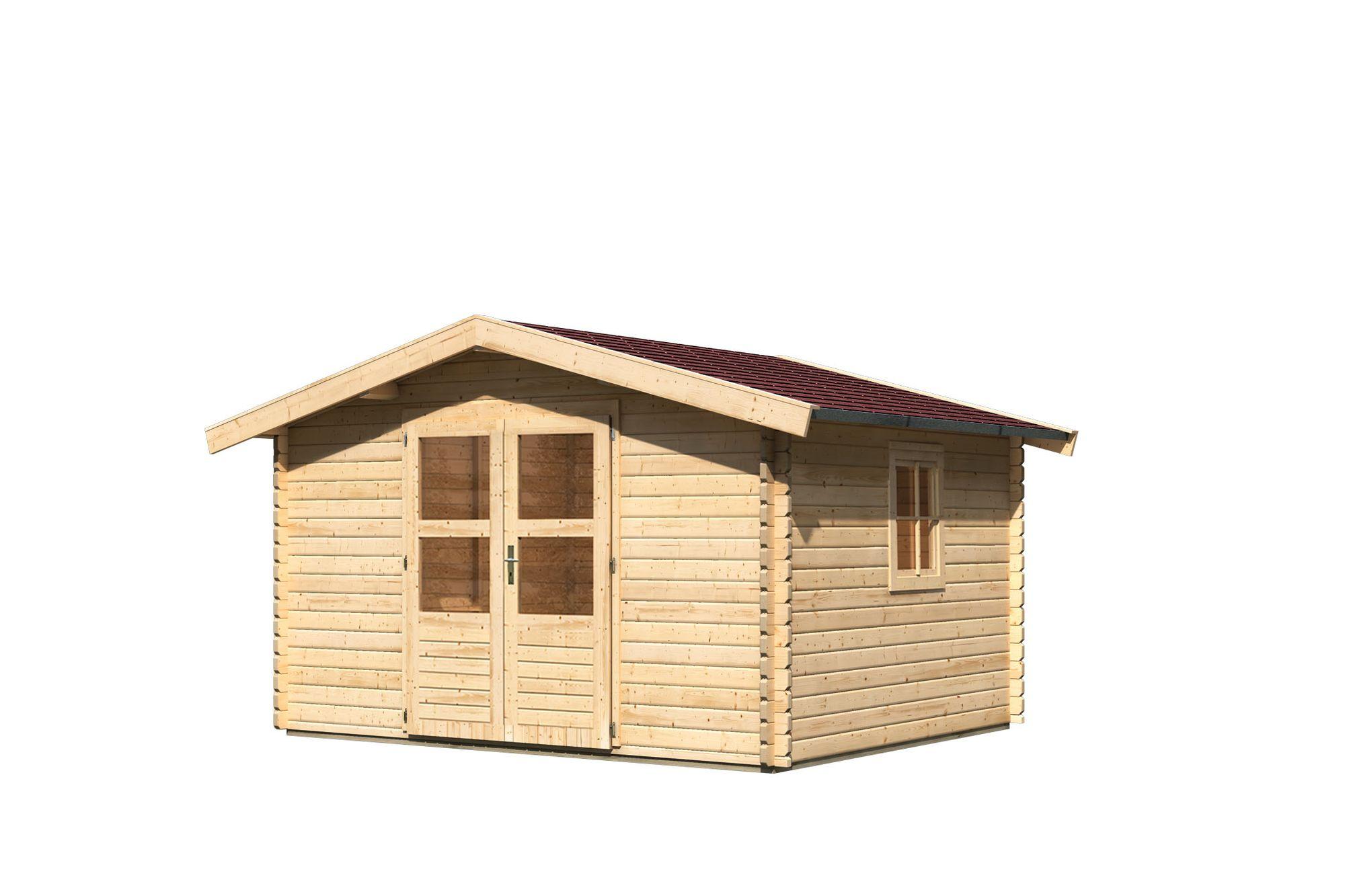 Fußboden Gartenhaus Holz ~ Gartenhaus blockbohlenhaus lenne farbe naturbelassen inkl