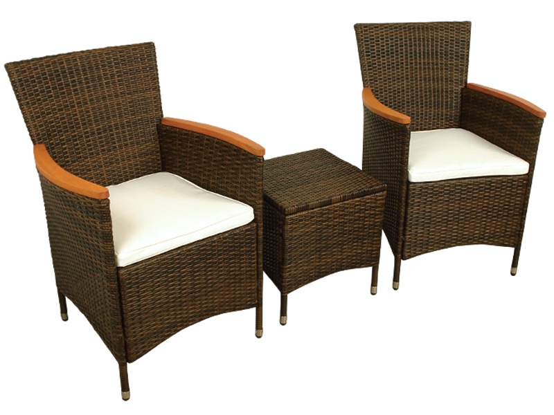 Favorit Gartenmöbel Gartenstuhl und Hocker Set Valencia 3-teilig JF46