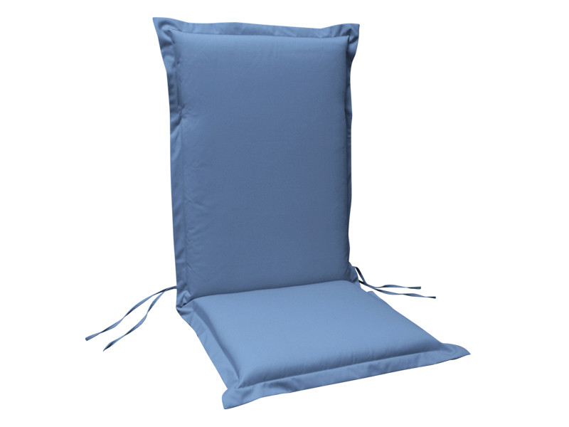 Gartenmobel Sitzauflage Hochlehner Premium Extra Dick Farbe Blau