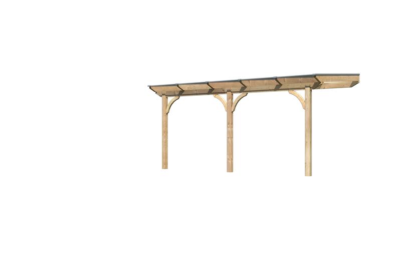 Karibu Holz Terrassenuberdachung Modell 1 Premium Grosse B 250 X