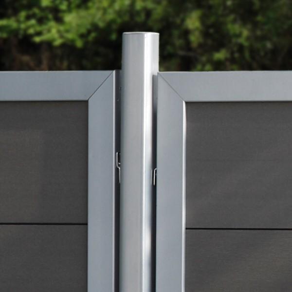 Brugmann Sichtschutzzaun Design Wpc Alu Rechteck Anthrazit 180 X 180cm