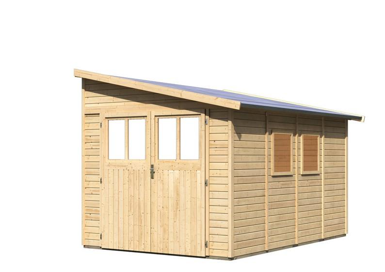 karibu gartenhaus bomlitz 4 pultdach 19 mm system natur. Black Bedroom Furniture Sets. Home Design Ideas
