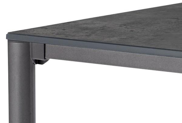 Sieger Exclusiv Tisch Puroplan Beton Dunkel 95x95cm Gestell Eisengrau