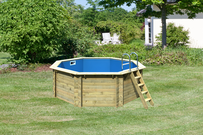 karibu pool holz swimmingpool achteck modell a1 400 x 400. Black Bedroom Furniture Sets. Home Design Ideas