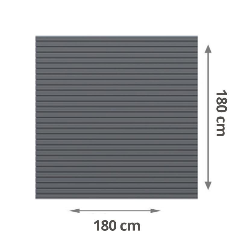 Brugmann Sichtschutzzaun System Rhombus Anthrazit