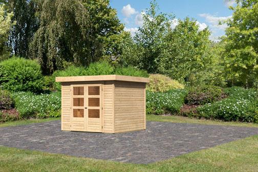 Woodfeeling Gartenhaus Askola 3 5 19 Mm Flachdach Schraub