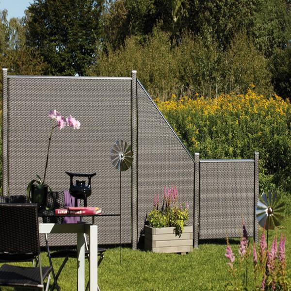 Brugmann Sichtschutzzaun Weave Rechteck Anthrazit 88 X 88 Cm