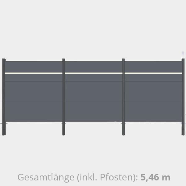 Traumgarten Sichtschutzzaun Metall Komplettset Aus Serie System Alu