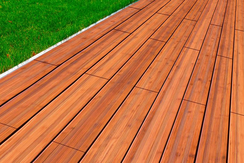 aMbooo Terrassendielen Bambus Supreme Farbe Coffee - Maße: 2400x200x20