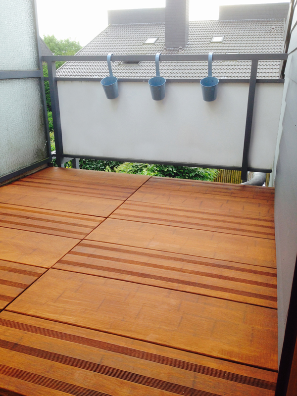 aMbooo Terrassendielen Bambus Mega Deck Farbe Coffee - Maße: 950x300x30