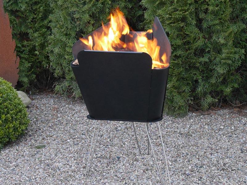 Vasner Merive 2 Feuerschale Feuerkorb für den Garten oder Terrasse