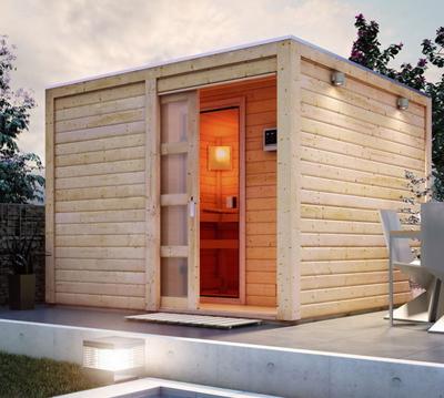 Super Sauna kaufen: moderne Heimsauna, Gartensauna, Infrarotkabine LN43
