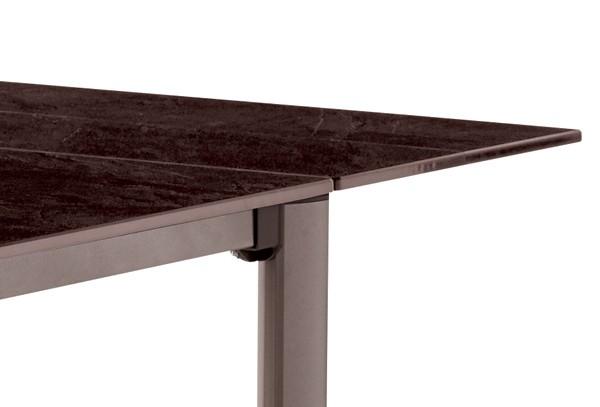 Latest Sieger Exclusiv Tisch Puroplan Schiefer Mocca Inkl Xcm Gestell  Marone With Sieger Gartentisch