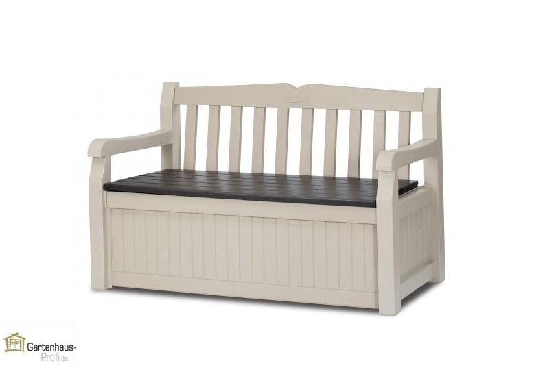 tepro kunststoff aufbewahrungsbox gartenbank garden bench 265 liter beige braun. Black Bedroom Furniture Sets. Home Design Ideas