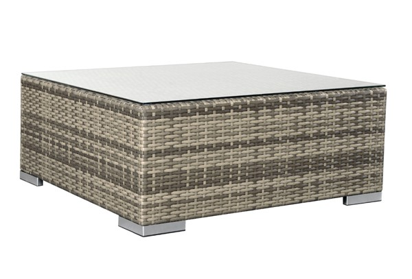 Rattan XXL Loungemöbel Set Espace 0   6 Teilig   Farbe: Grau Braun Meliert