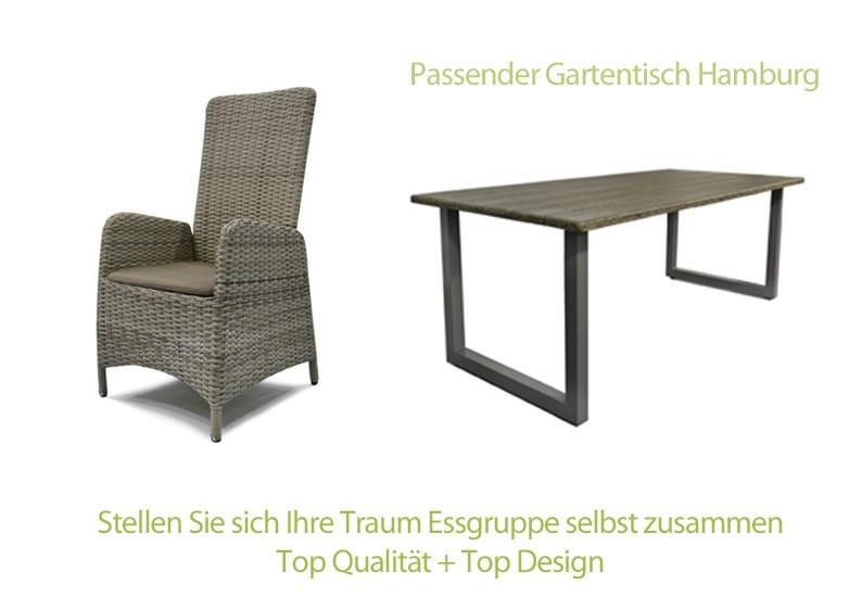 Rattan Relaxsessel Gartenstuhl Rotterdam Rückenlehne verstellbar ...
