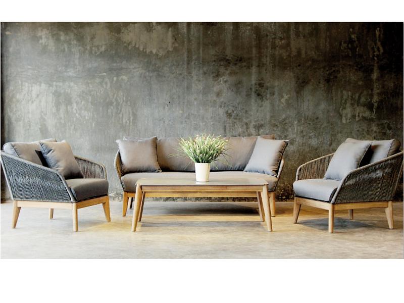 Gartenmöbel set lounge  Best Gartenmöbel-Set Lounge-Gruppe Samos 4-tlg. inkl. Auflagen und 2 ...