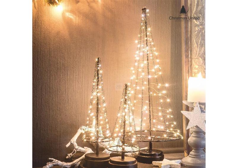 9b07dbce5a04 LED-Lichterbaum-Kegel Weihnachtsbaum für innen - Größe: L - 42 cm hoch - 85  LED-Lampen: warmweiß