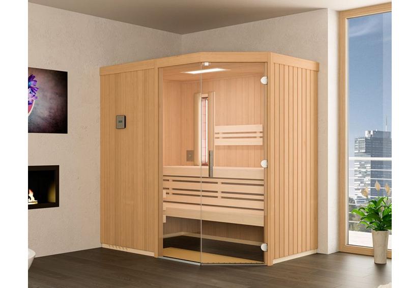 Beliebt Infraworld Sauna auf Maß Optima mit Sole-Therme Hemlockholz 75 mm XP77