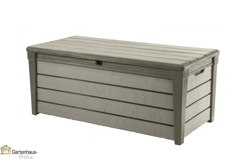 Tepro Kunststoff Aufbewahrungsbox Brushwood Box 455 Liter Taupe