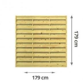TraumGarten Sichtschutzzaun Lettland Rechteck kdi - 179 x 179 cm