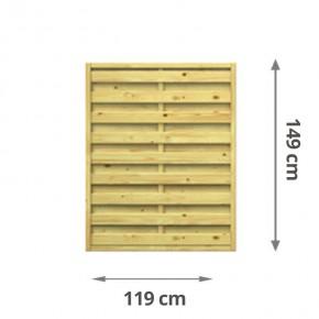 TraumGarten Sichtschutzzaun Lettland Rechteck kdi - 119 x 149 cm