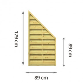 TraumGarten Sichtschutzzaun Lettland Anschluss kdi - 89 x 179 auf 89 cm