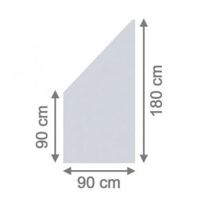 TraumGarten Sichtschutzzaun System Glas Matt Anschluß links - 90 x 180/90 x 0,8 cm