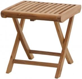 Ploss Gartenmöbel Beistelltisch o. Fusshocker Arlington klappbar aus Premium-Teak 45 x 45 x 45 cm
