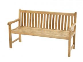 Ploss Gartenmöbel Landhausbank Gartenbank Coventry mit Armlehnen aus Premium-Teak  150 x 64 x 90 cm  3-Sitzer