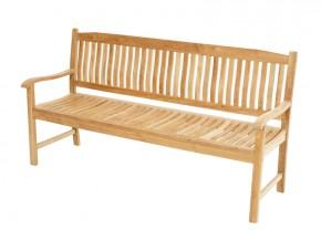 Ploss Gartenmöbel Landhausbank Gartenbank New Haven aus Premium-Teak  180 x 64 x 95 cm  3-Sitzer