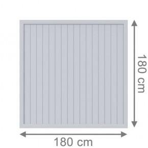 TraumGarten Sichtschutzzaun Kunststoff Longlife Riva Rechteck grau - 180 x 180 cm