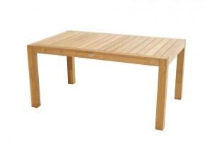 Ploss Gartenmöbel Gartentisch rechteckig New Haven aus Premium-Teak  160 x 100 x 77 cm