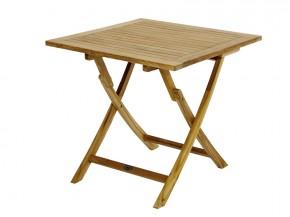 Ploss Gartenmöbel Klapptisch York aus Premium-Teak  70 x 70 x 75 cm  quadratisch