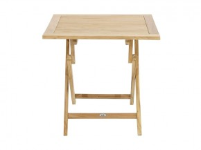 Ploss Gartenmöbel Klapptisch York aus Premium-Teak  80 x 80 x 75 cm  quadratisch