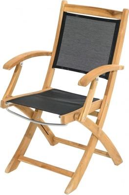 Ploss Gartenmöbel 2er Set Klappstuhl Fairchild mit Armlehne und Textilbespannung  57 x 59 x 91 cm