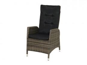 Ploss Gartenmöbel 2er Set Dining-Sessel Rocking aus Polyrattangeflecht doppel-halbrund  60 x 68 x 111 cm  Farbe: grau-braun-meliert