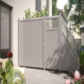 TraumGarten Sichtschutzzaun Kunststoff Longlife Riva Rechteck grau - 90 x 180 cm