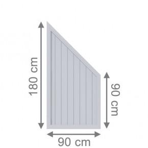 TraumGarten Sichtschutzzaun Kunststoff Longlife Riva Anschluss grau - 90 x 180 auf 90 cm
