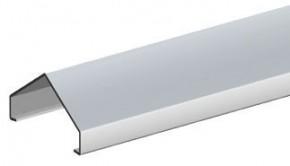 TraumGarten Aufsatzleiste Aluminium für gerade Elemente Holz - 5,4 x 180 cm