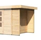 Karibu Holz Mülltonnenschleppdach für eine Haustiefe von 2,47m Farbe: naturbelassen