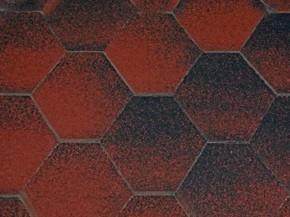 Wolff Finnhaus Holz-Gartenhaus Dachschindeln -  6-Eck de luxe rot