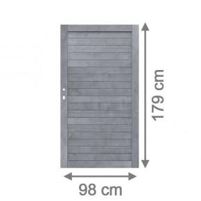 TraumGarten Sichtschutzzaun Neo Tor grau lasiert - 98 x 179 cm